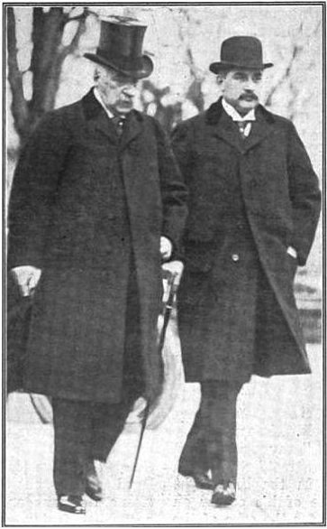 J.P. Morgan and J.P. Morgan Jr. in 1913