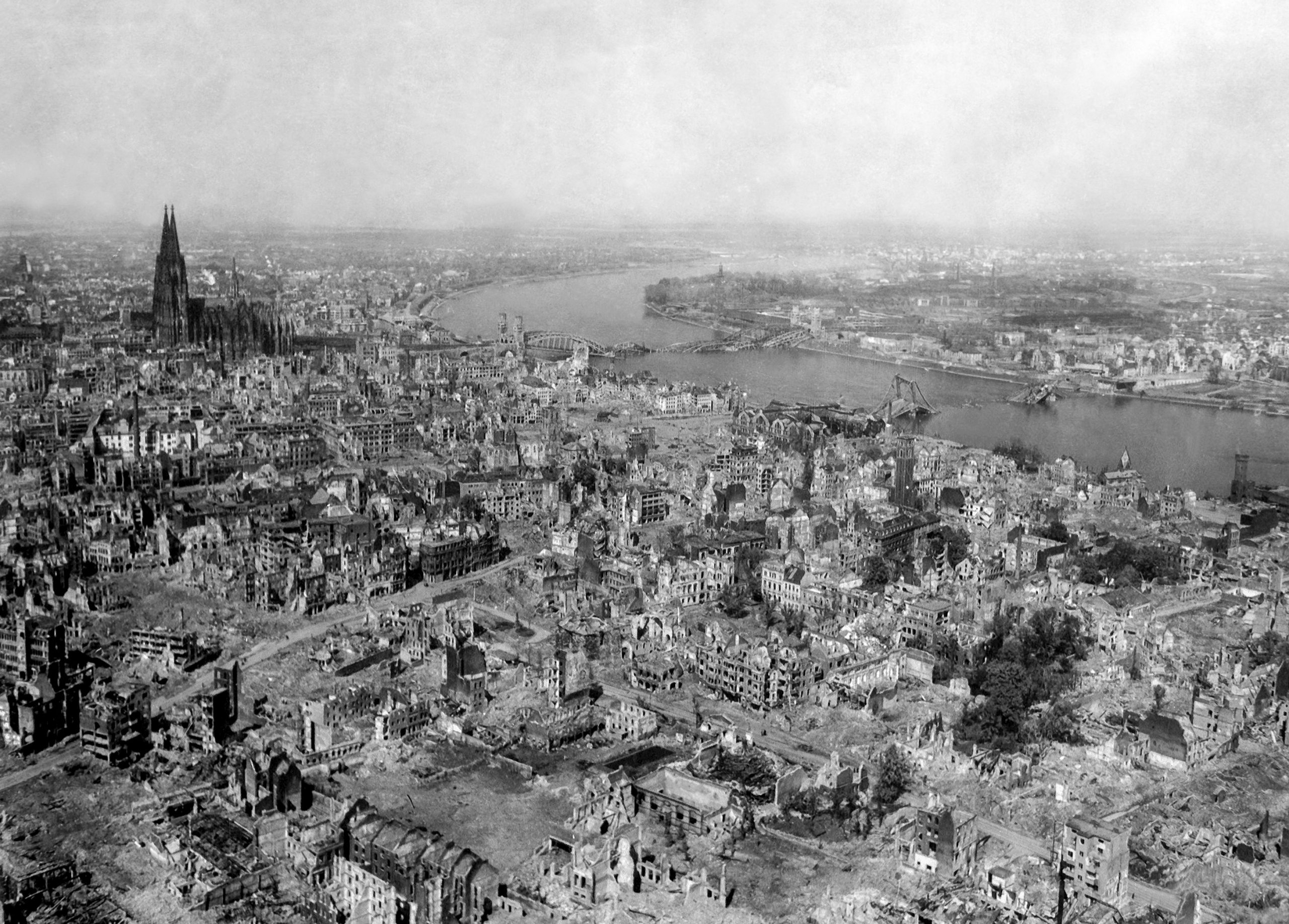Cologne, Germany, after air raids