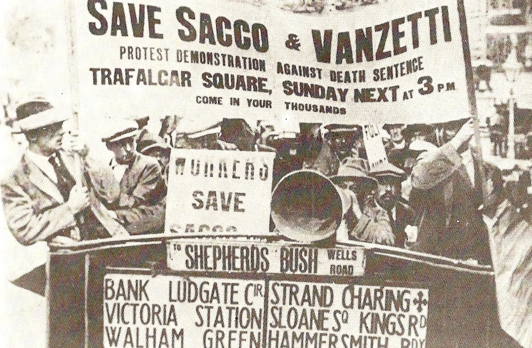 Protest to save Sacco and Vanzetti