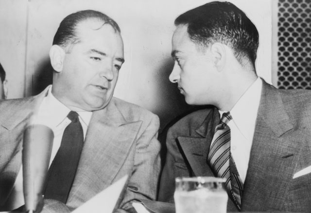 McCarthy chats with Roy Cohn