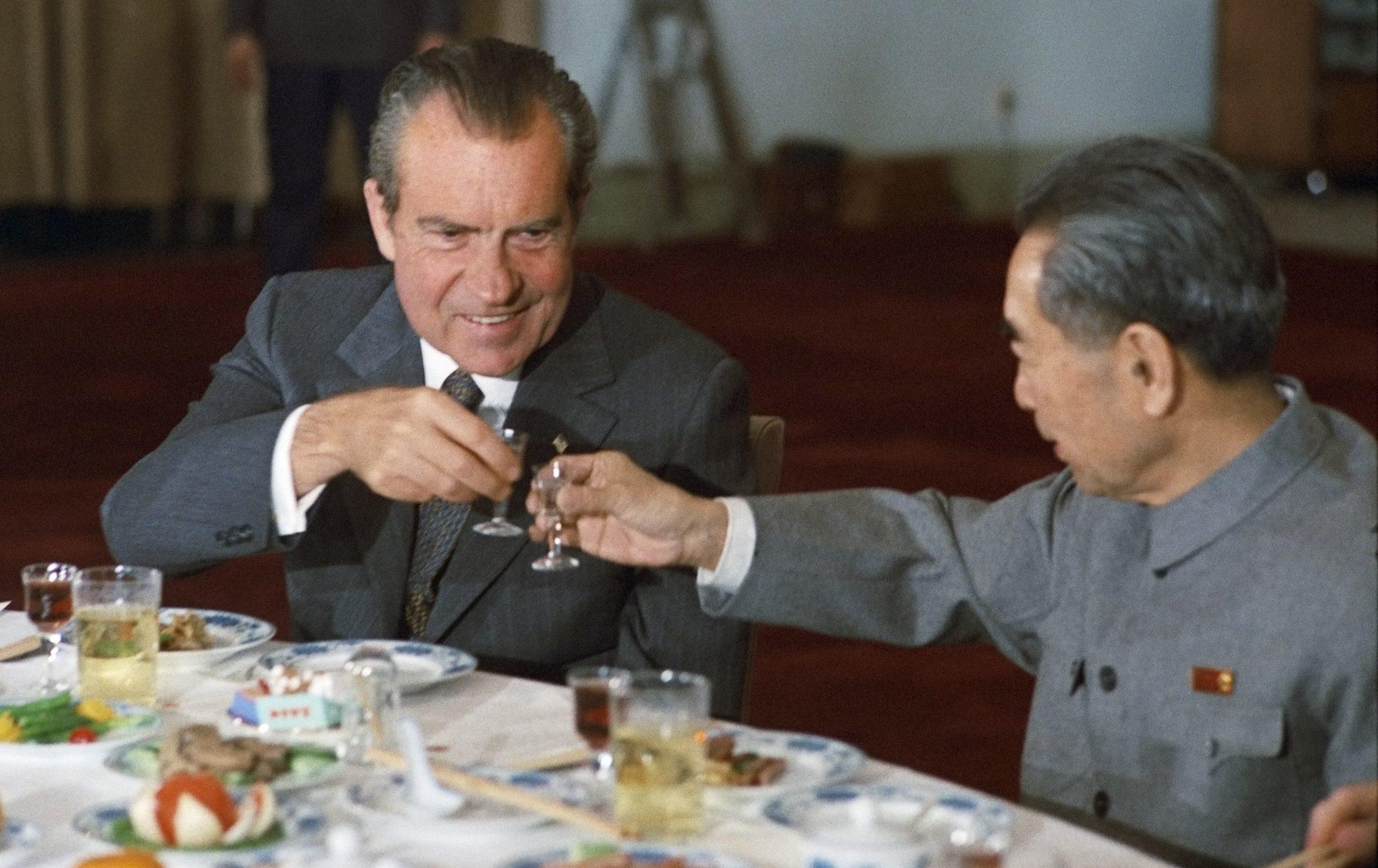 Nixon and Zhou Enlai